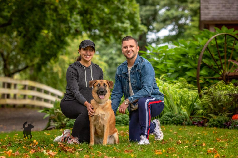 Family Photo with Dog at Endicott Park