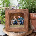 Rustic Pet Photo Ornament