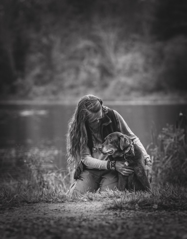 Dog and Mom bond