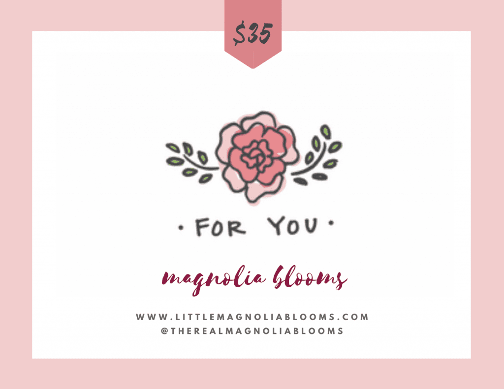 Floral Bouquet Gift Magnolia Blooms
