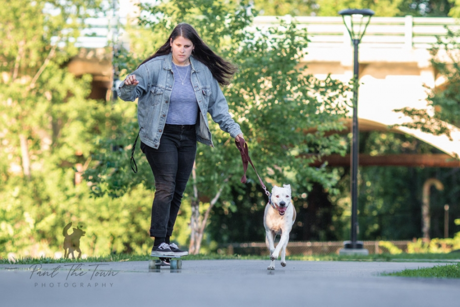Skateboarding with your dog