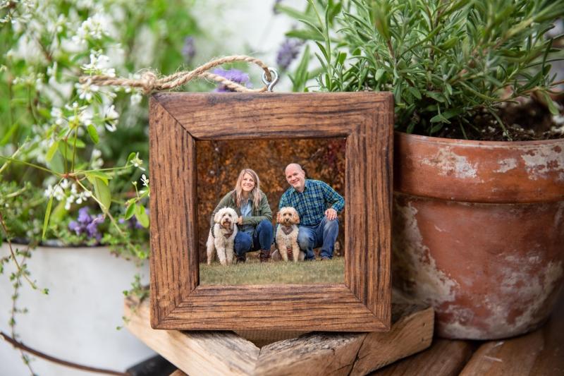 Rustic Pet Photo Ornament