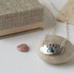 Lisa Scala Jewelry Paw Print Necklace